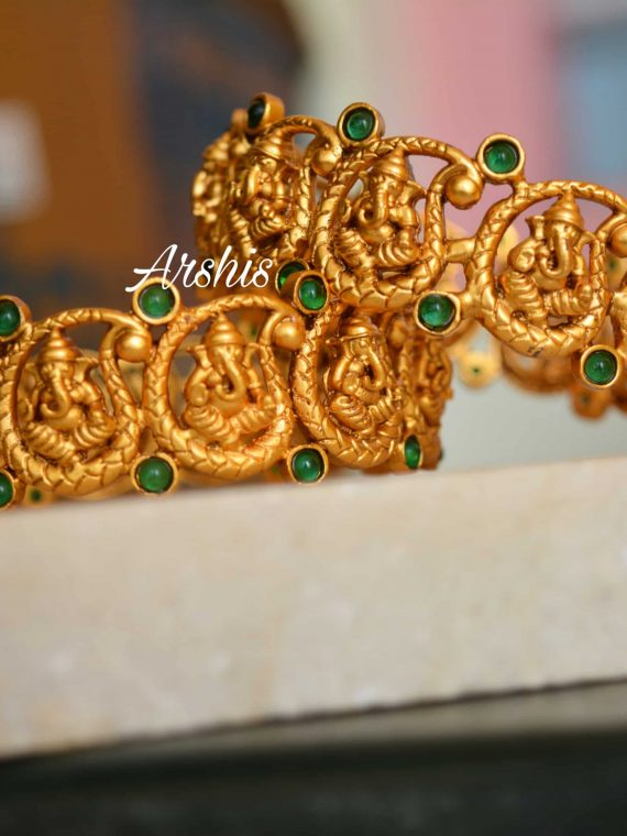 Beautiful Ganesh Temple Kada Type Bangle-01 (2)