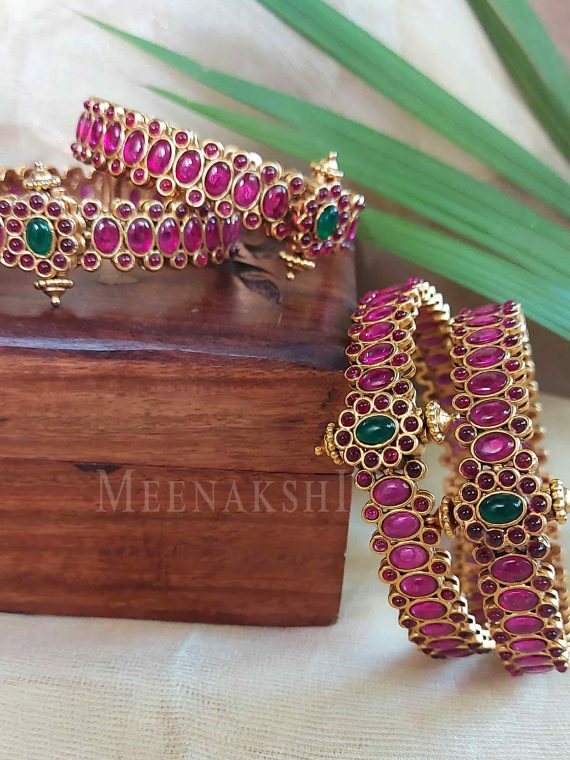Beautiful Openable Real Kemp Bangles-01