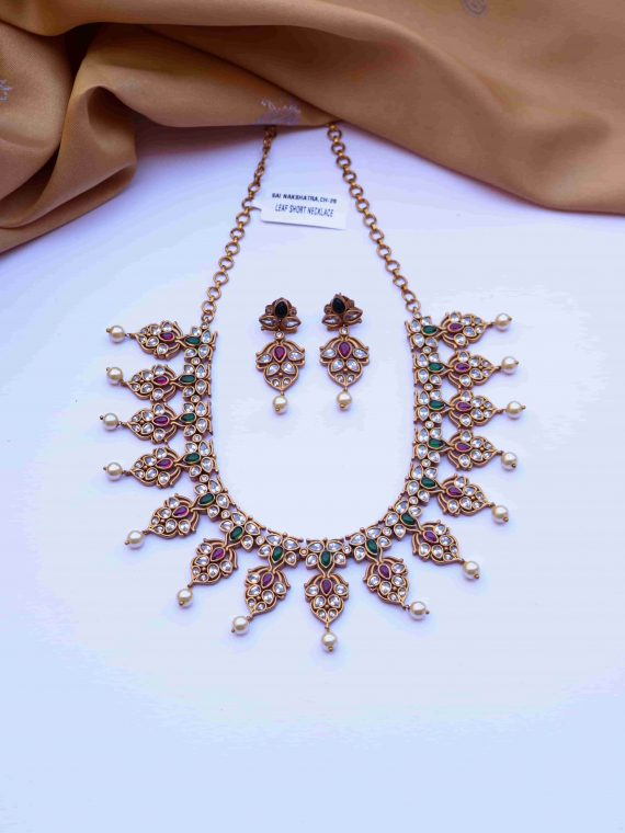 Classy Elegant Look AD Stone Short Necklace-01