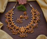 Gorgeous Chandbali Design Lakshmi Necklace-01
