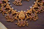 Gorgeous Chandbali Design Lakshmi Necklace-02