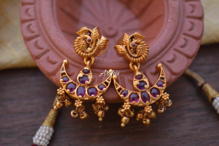 Gorgeous Chandbali Design Lakshmi Necklace-03