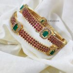 Gorgeous Gold Look alike Pink & Green Stones
