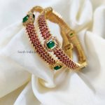 Gorgeous Gold Look alike Pink & Green Stones (3)