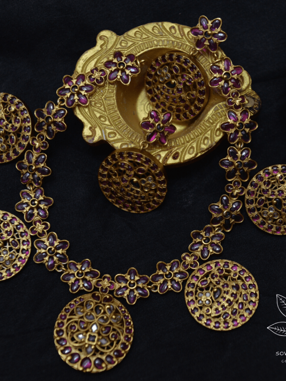 Gorgeous Gold alike Real Kemp Necklace-01