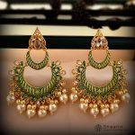 Gorgeous Hand Painted Layered Chandbali Earrings-01