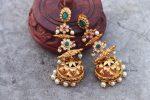 Gorgeous Long Drop AD Stone Pearl Jhumka