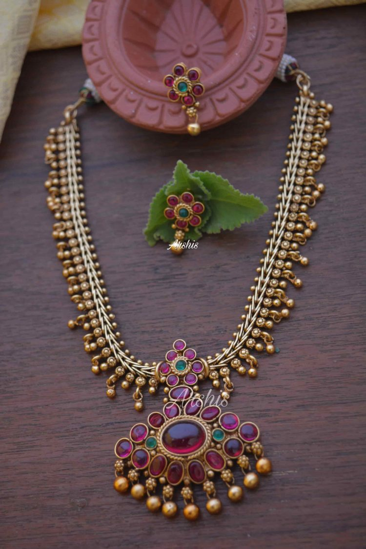 Gorgeous Real Kemp & Green Pendant Necklace-01