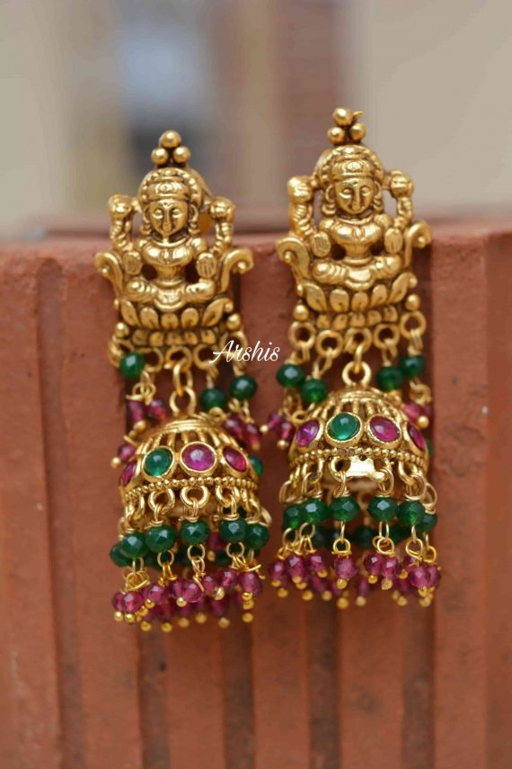 Grand Bridal Temple Lakshmi Nagas Necklace-02