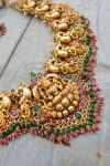 Grand Bridal Temple Lakshmi Nagas Necklace-03