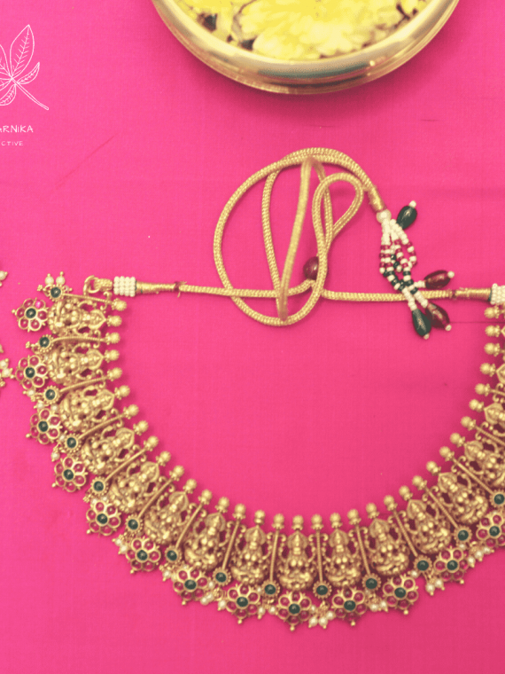 High Neck Temple Lakshmi Necklace-01