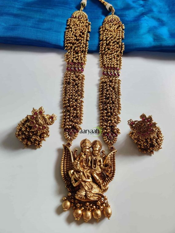 High Premium Cluster Gold Beads Ram Parivar Haram-01