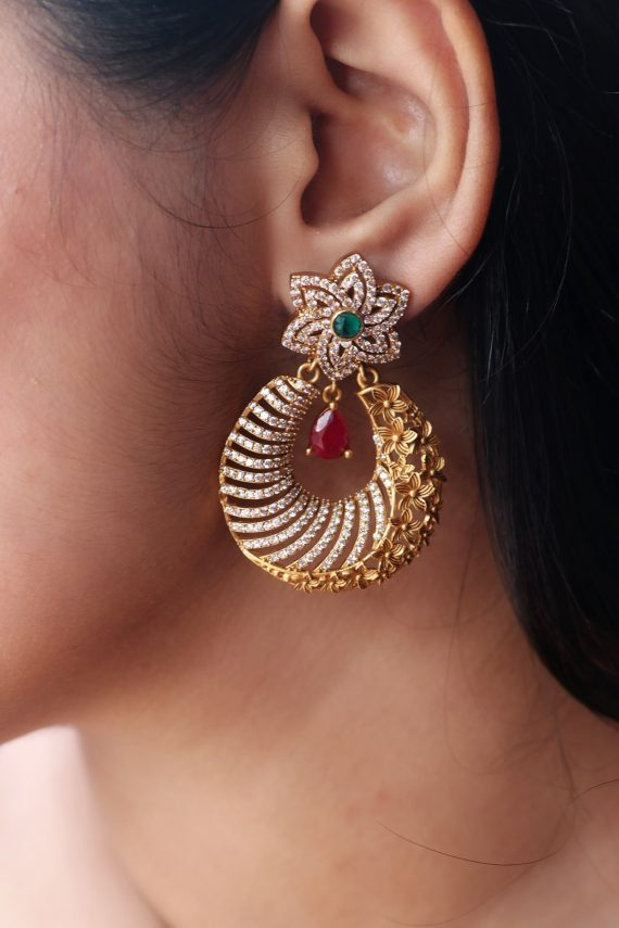 Imitation Floral Light Weight Earrings-01