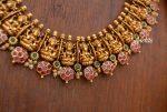 Imitation Goddess Lakshmi Flower Design Necklace-02