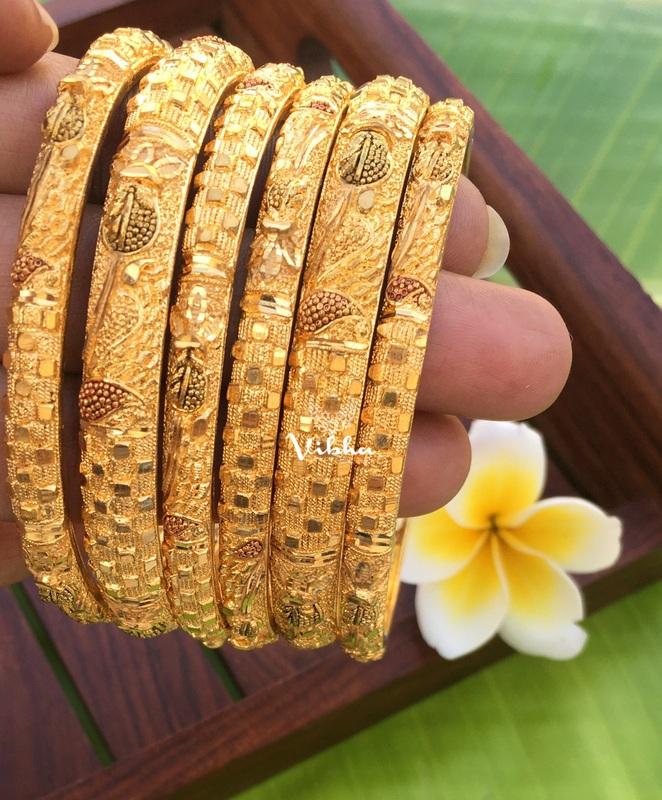 Imitation Gold Plated Set of 6 Bangles-02