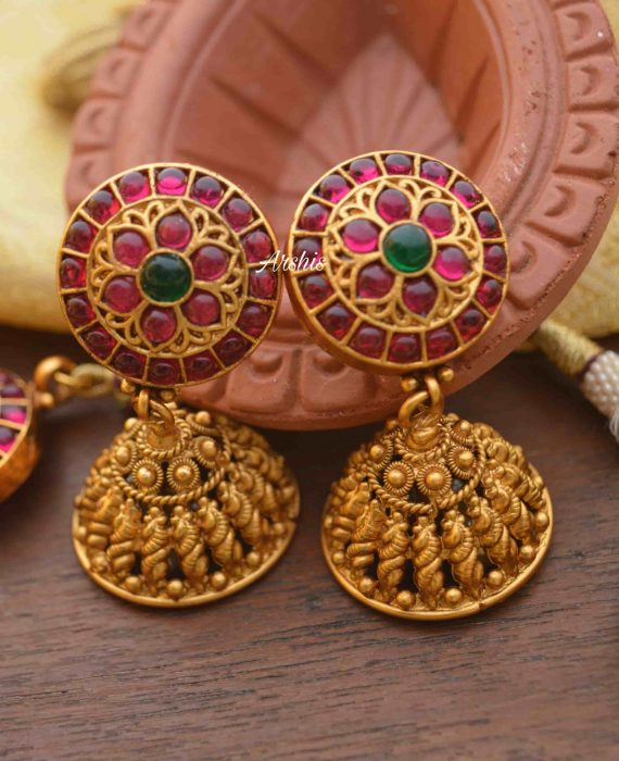 Lakshmi Coin with Side Mogapu Necklace-03