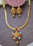 Simple Navarathna Lakshmi Pendant Necklace-01