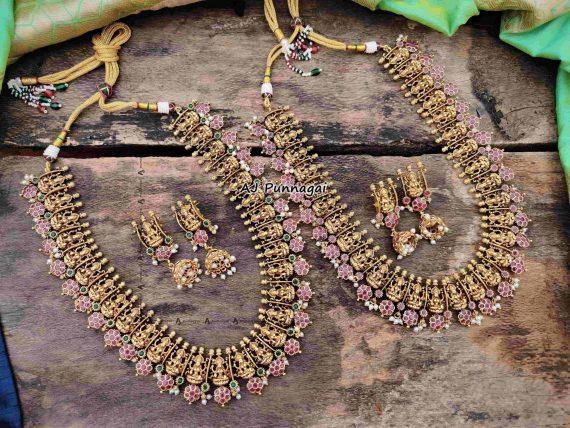 Temple Lakshmi Bridal Guttapusalu Haram-01