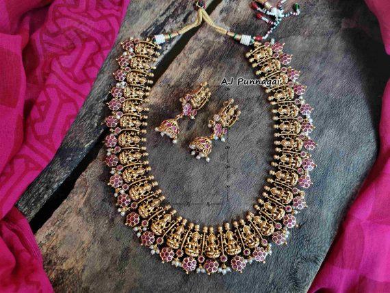 Temple Lakshmi Bridal Guttapusalu Haram-02