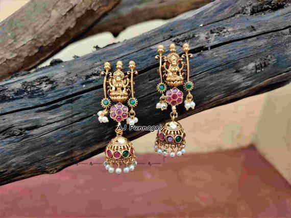 Temple Lakshmi Bridal Guttapusalu Haram-04