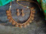 Uncut & Ruby Stone Matte Finish Necklace-01