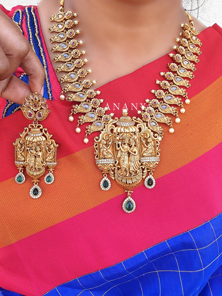 Imitation Radha Krishna Designer Necklace