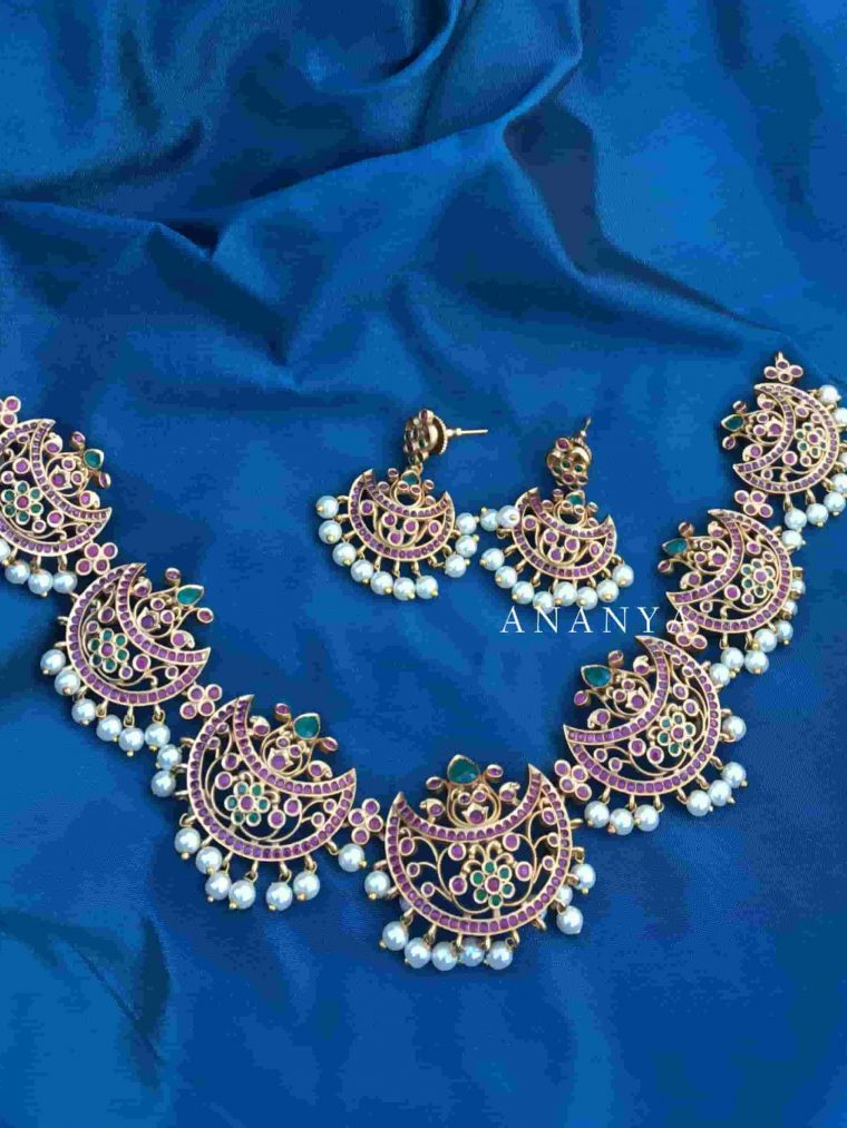 Traditional Chandbali Necklace Set