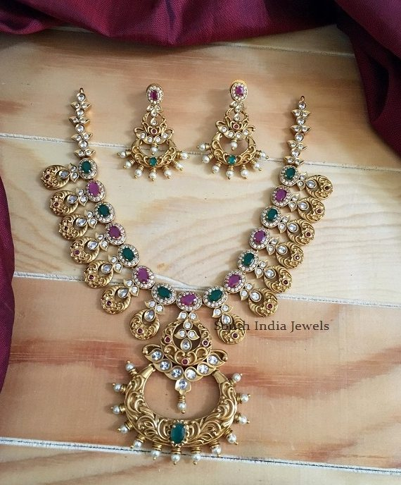 Amazing Ruby Emerald Necklace
