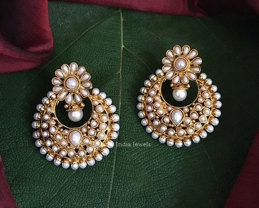 Stunning Antique Chandbali Designer Earrings