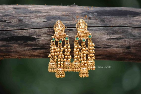 Beautiful Ganesha Design Earrings