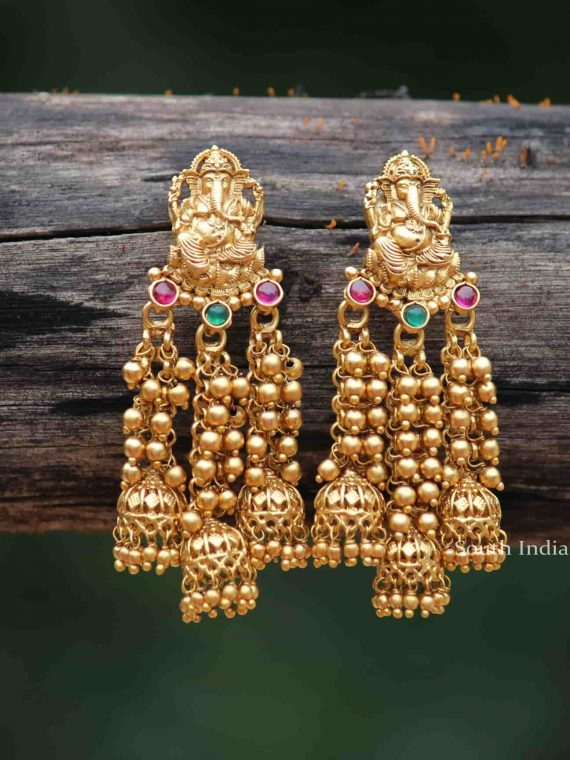 Beautiful Ganesha Design Earrings