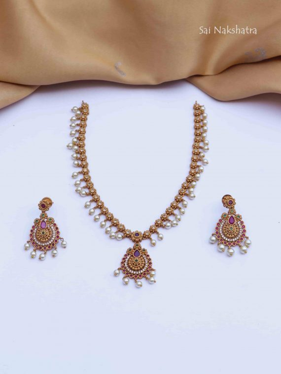 Elegant Design Pearl Drop Necklace