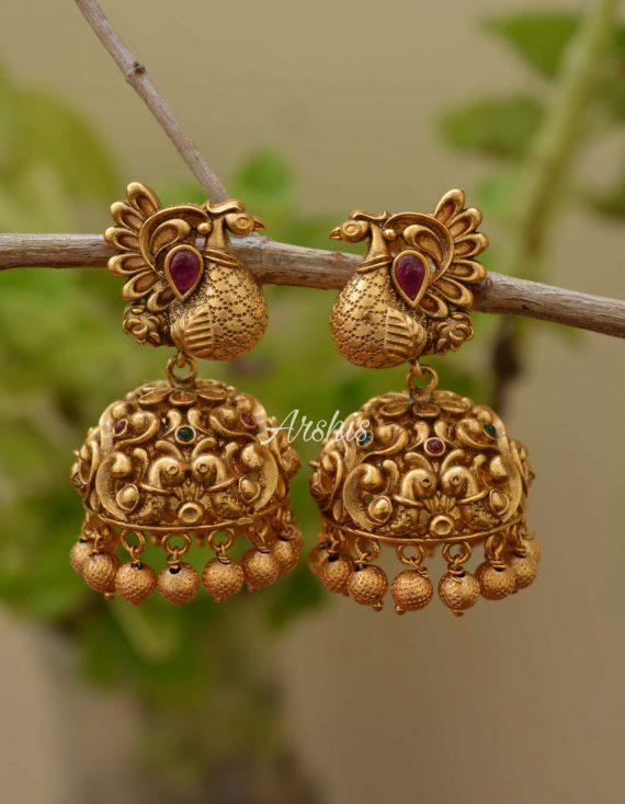 Beautiful Peacock Design Earrings-01