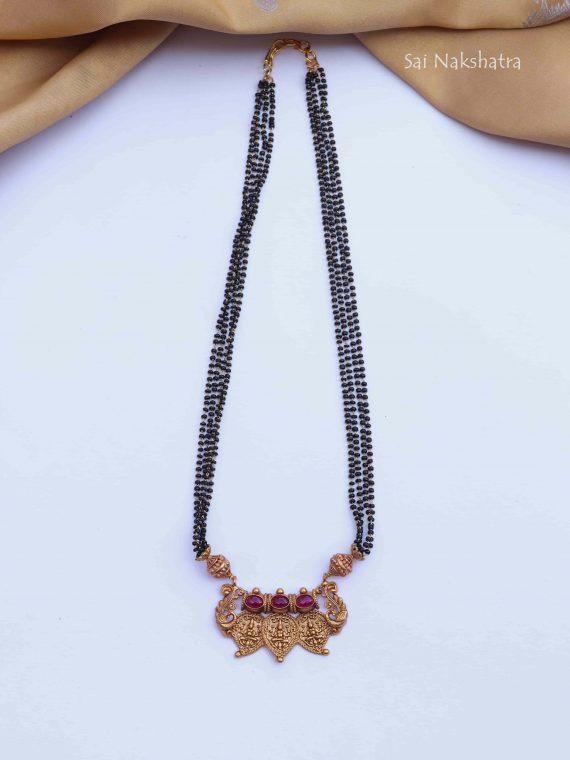 Mango Design Lakshmi Ruby Stone Mangalsutra