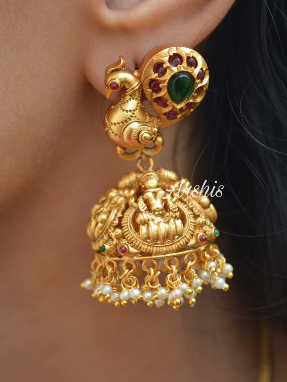 Goddess Lakshmi Long Jhumka