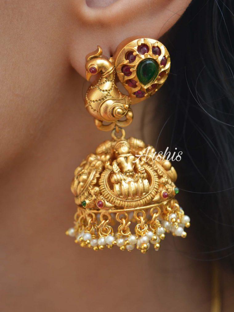 Goddess Lakshmi Long Jhumka
