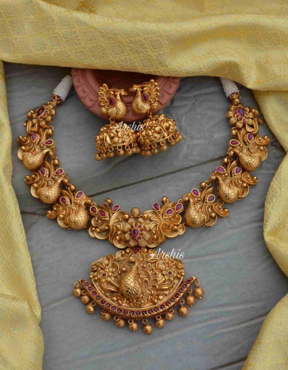 Peacock Design Bridal Necklace