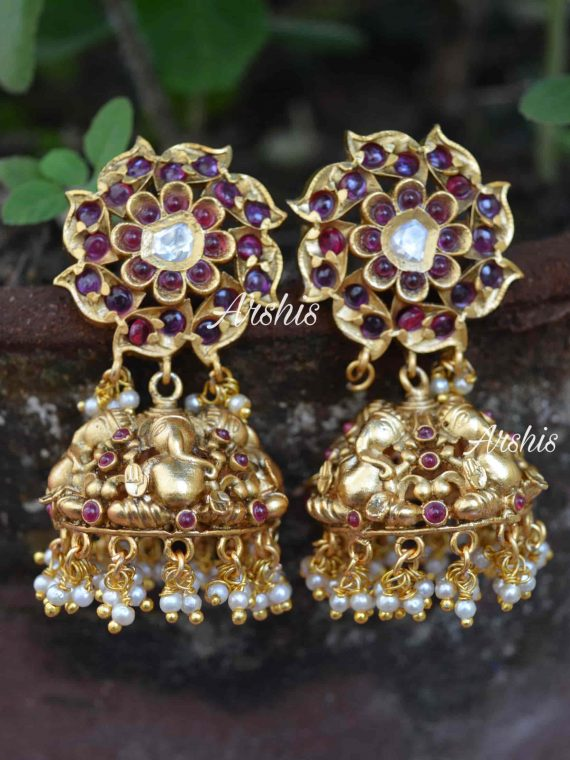 Beautiful Ganesh Design Jhumka