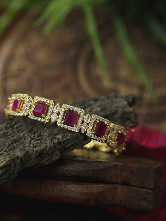 Beautiful AD Pink Stone Bangle