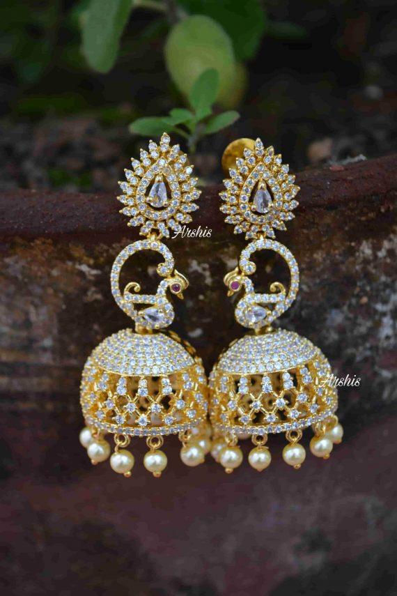Imitation AD Stone Designer Jhumka