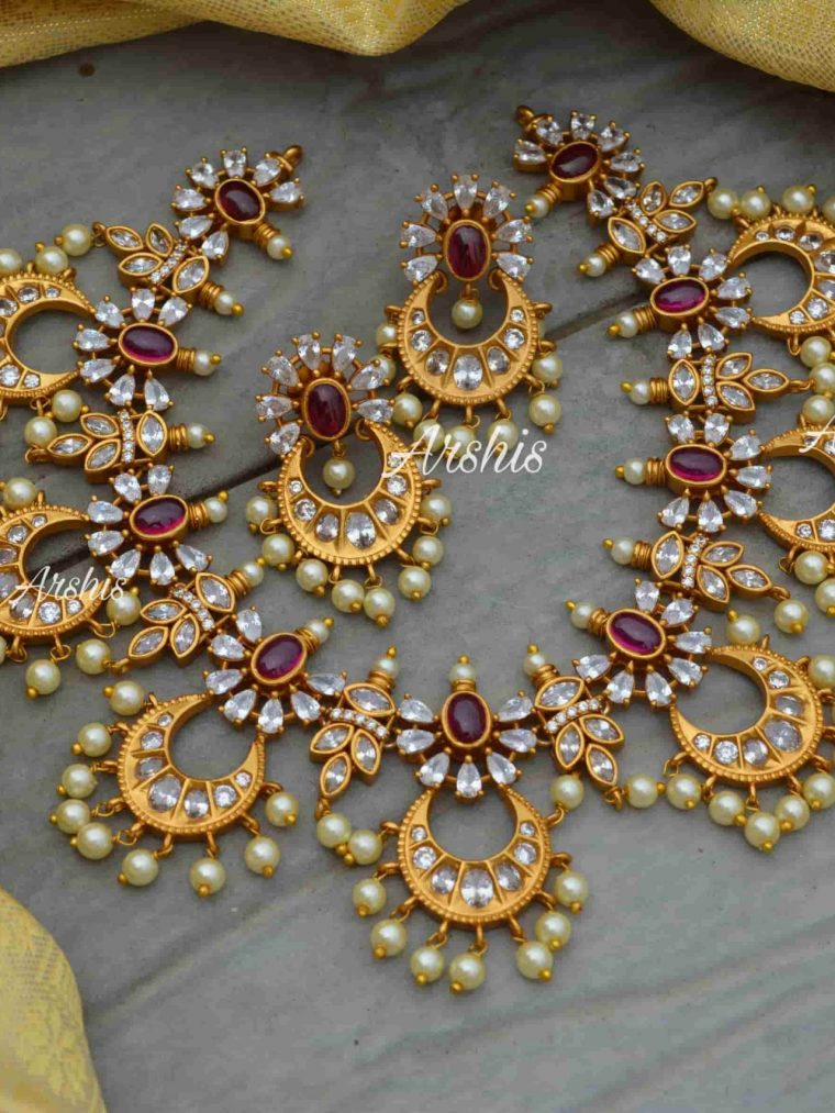 AD Stone Chandbali Designer Necklace