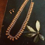 Beautiful Mango Design Long Haram With Earrings