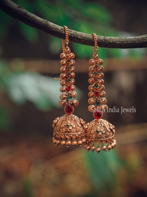Beautiful Imitation Jhumkas with Chain