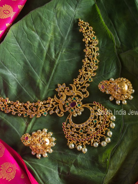 Premium Quality Matte Finish Necklace with Jhumka