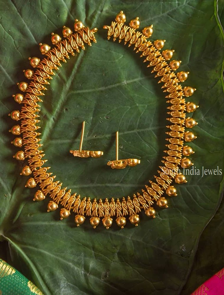 Maate Finish Uncut Bali Designer Necklace