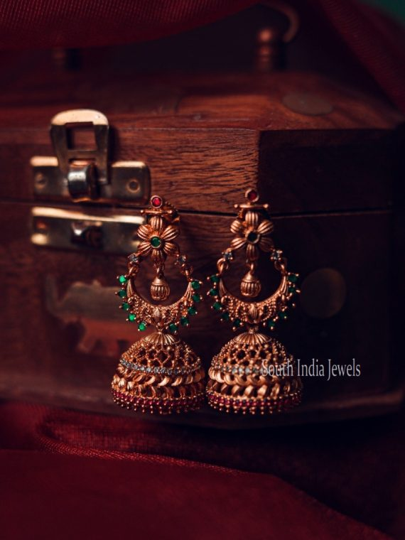 Pretty Green Color Designer Jhumka