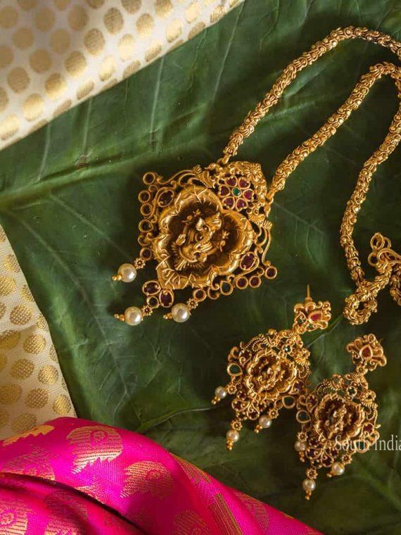 Beautiful Vignesha Design Necklace