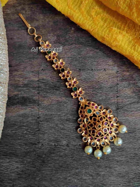 AD Stone with Pearl Maang Tikka-01