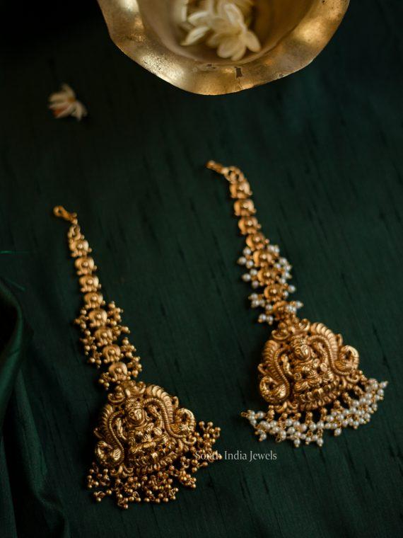 Antique Bridal Lakshmi Design Maang Tikka-01