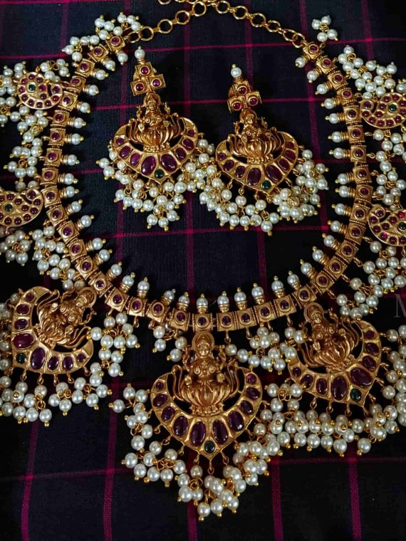 Bridal Lakshmi Guttapusalu Necklace-01